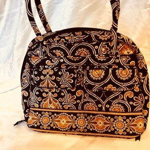 Vera Bradley Black & Brown Paisley Purse
